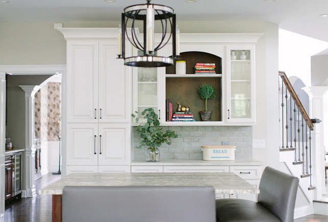 Kitchen Pantry Cabinet layout. White kitchen with pantry cabinet. Kitchen Pantry Cabinet. #Kitchen #Pantry #Cabinet    Kate Marker Interiors.