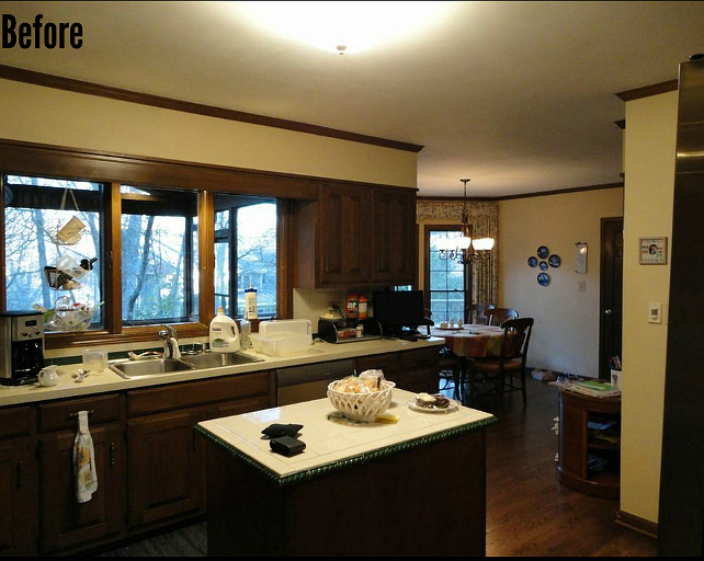 Kitchen Reno Before and After Pictures. #KitchenRenoBeforeandAfterPictures