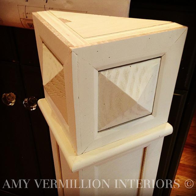 Kitchen Reno. Kitchen Cabinet Molding Detail. #KitchenReno #Kitchen #KitchenCabinetMolding  Amy Vermillion Interiors