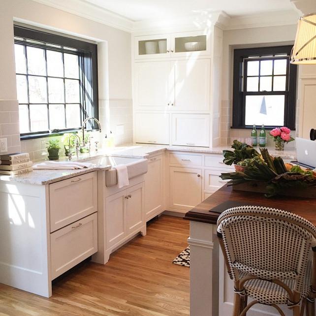 Kitchen Sink under window. Kitchen Sink Cabinet Layout. Kitchen Sink with drawer dishwashers beside it. #Kitchen #Sink Martha O'Hara Interiors.