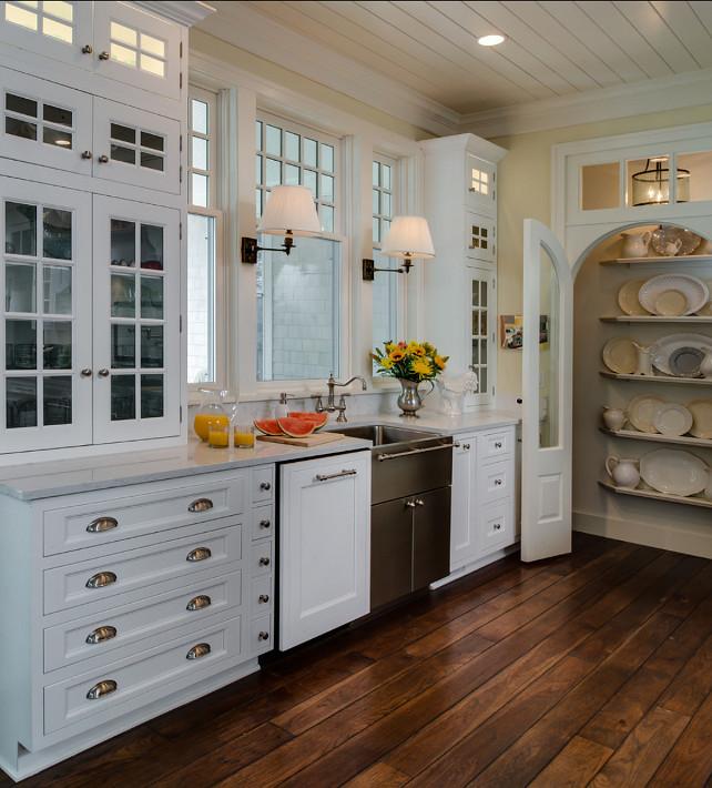 Kitchen Sink. Kitchen sink with custom cabinet and pantry. #Kitchen #KitchenSink #KitchenCabinet #KitchenPantry