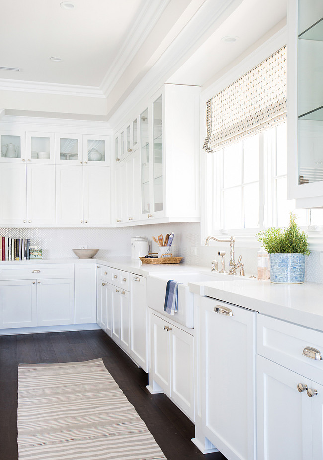 Kitchen Trash Compactor. Kitchen paneled trash compactor. Place kitchen trash compactor by the sink on one side and the dishwasher on the other side of the sink. #Kitchen #TrashCompactor Shea McGee Design.