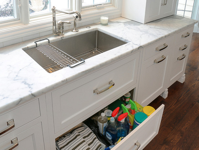 kitchen under sink storage add drawers under the kitchen sink for a more practical storage - Kitchen Sink Drawer