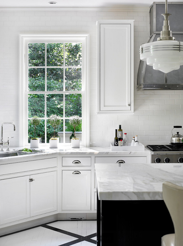 Kitchen Window. Interior Design by Beth Webb Interiors.