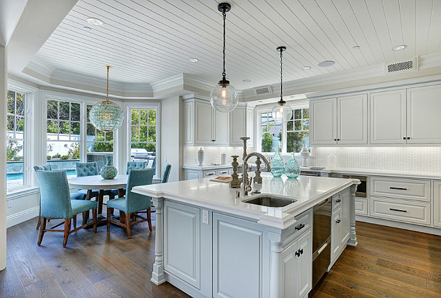 Kitchen and Breakfast Nook. Kitchen and Breakfast Nook Design. Kitchen and Breakfast Nook Ideas. Kitchen Opens to Breakfast Nook Layout. #Kitchen #BreakfastNook