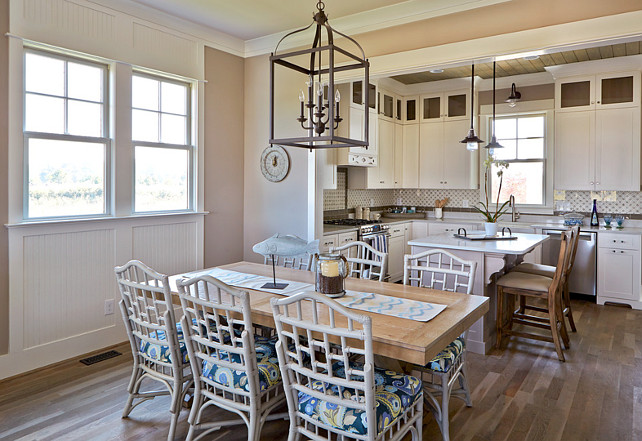 Kitchen and Dining Room Layout. Kitchen opens to Dining Room. #Kitchen #LivingRoom