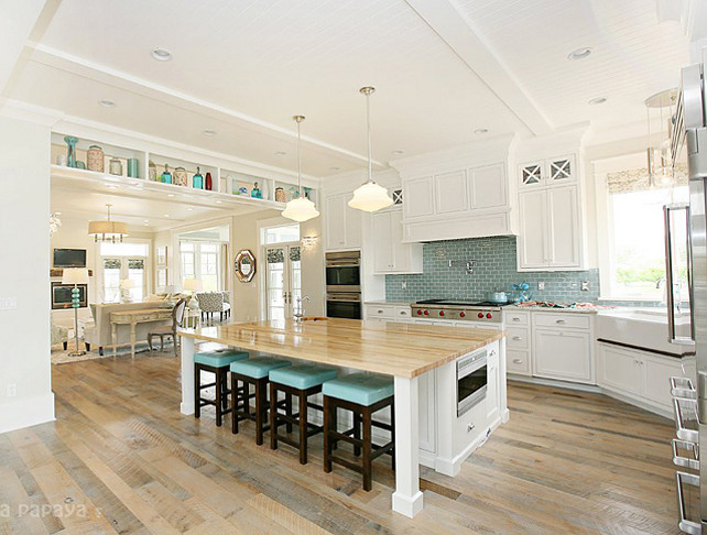 Hamptons style family home for sale home bunch interior for Large kitchen islands for sale