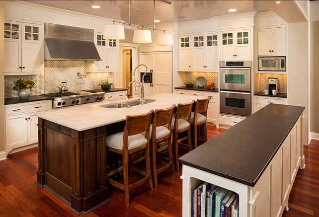 Kitchen. Kitchen Layout Ideas. Kitchen with practical layout. #Kitchen #KitchenLayout #KitchenLayoutIdeas Designed by Kyle Hunt & Partners, Incorporated.
