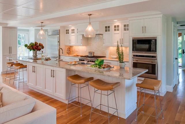 Cape Cod Shingle Beach House With Coastal Interiors