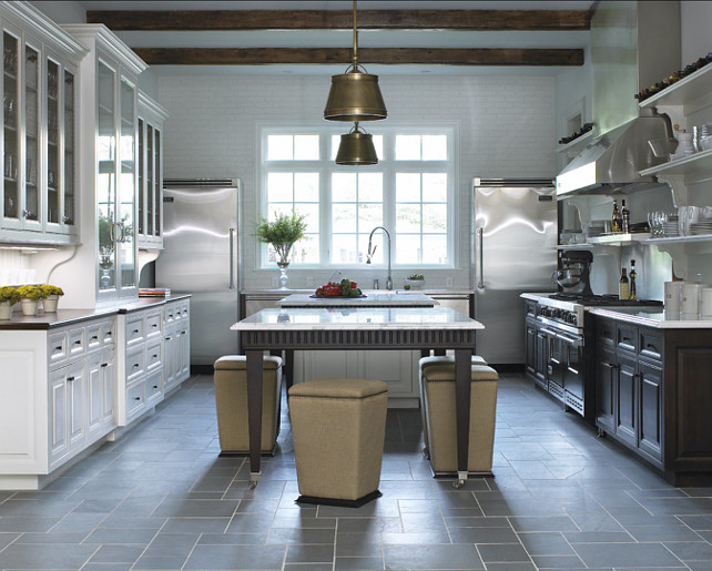 "Kitchen. This transitional French kitchen is full of great design ideas. This is how the ""New French Kitchen"" looks like! Modern and timeless at the same time. #FrenchKitchen #FrenchDesign #Kitchen #KitchenDesign"