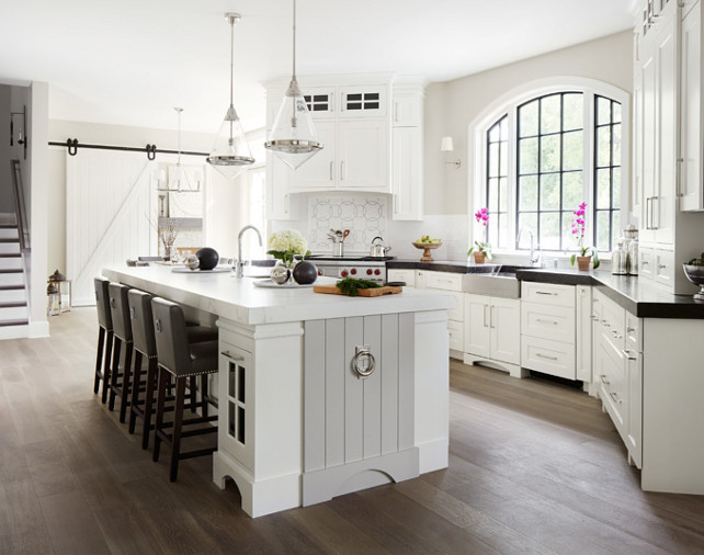 White kitchen cabinets light blue walls for White kitchen designs gallery