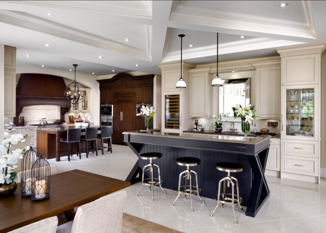 Kitchen. Unique kitchen design with bar. This works well if you love to entertaing at home. #Kitchen #KitchenDesign #Bar #BarDesign Designed by Jane Lockhar.