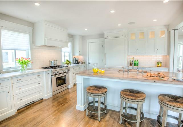 Kitchen. White Coastal Kitchen. #WhiteKitchen #CoastalKitchen