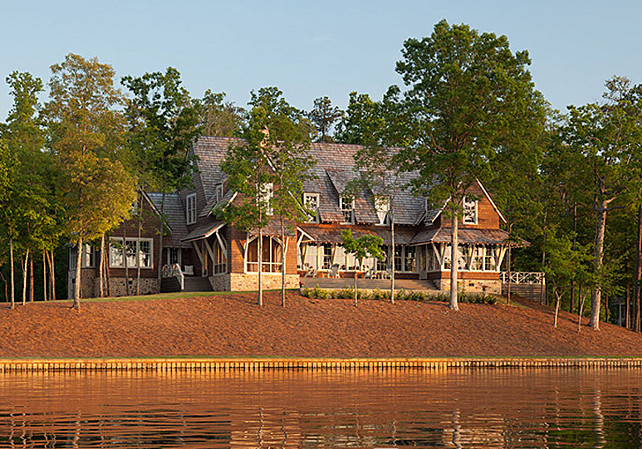 Lake House with Rustic Interiors Home Bunch Interior Design Ideas