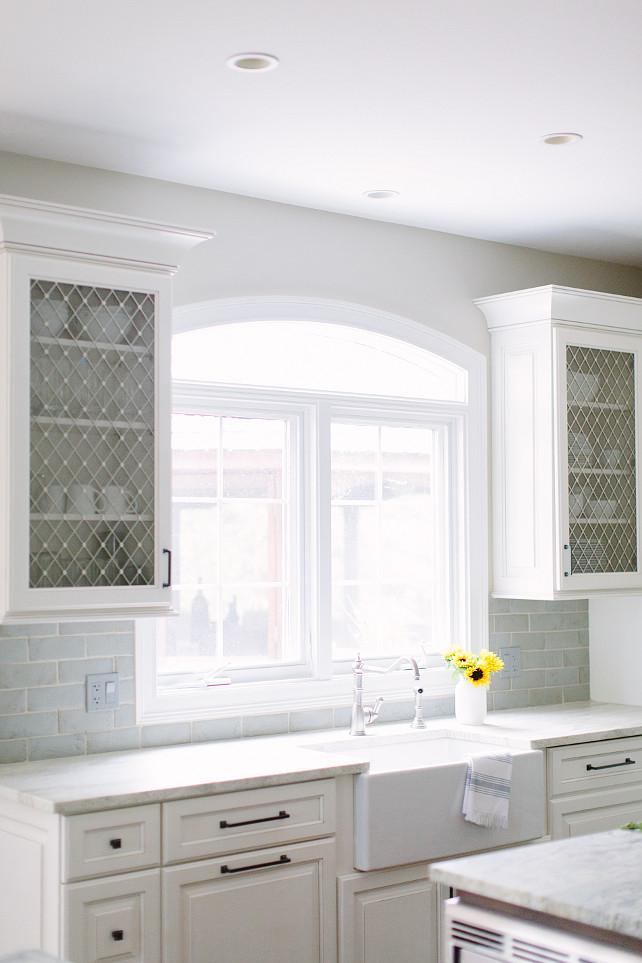 Lattice Kitchen cabinet. Lattice Kitchen cabinet doors. Kitchen with Lattice cabinet doors. #Lattice #Kitchen #cabinet Kate Marker Interiors.