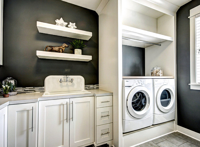 Laundry Room Built-in Ideas. Laundry Room Built-in cabinet. Laundry Room Cabinet layout. Laundry Room Sink. Laundry Room Ideas. #LaundryRoom Dwellings Inc.