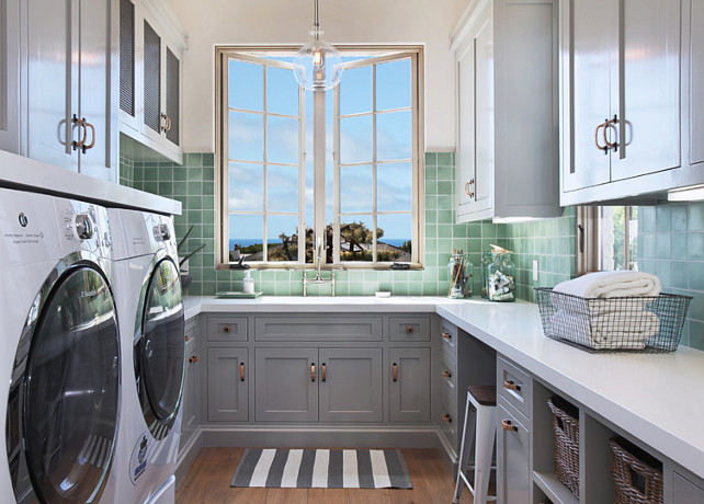Laundry Room Countertop #LaundryRoomCountertop