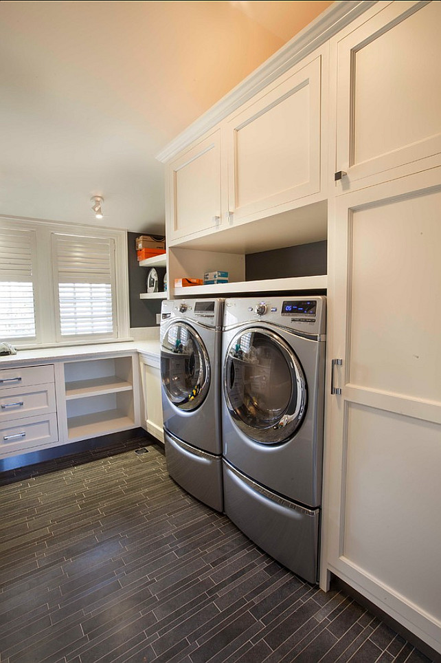 Traditional transitional coastal interior design ideas - Laundry room layout ideas ...