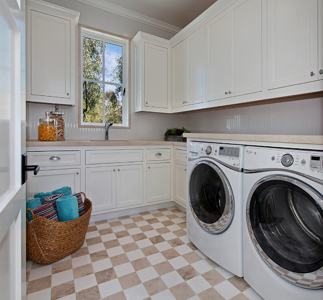 Laundry Room Laundry Room Cabinet Laundry Room Flooring Laundry room Paint Color #LaundryRoom