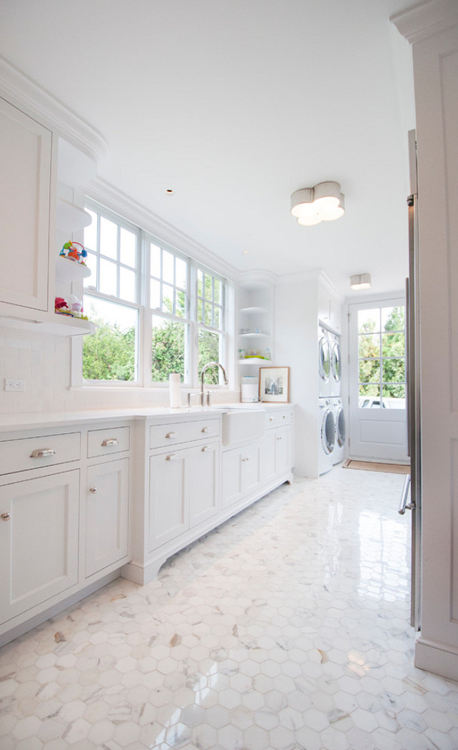 Laundry Room. Laundry Room Layout. Laundry Room Cabinet layout. Laundry Room Sink. White Laundry Room Cabinet. Laundry Room Double Machines. Laundry Room Flooring. #LaundryRoom Calcatta Gold Hexagon Flooring. MKL Construction Corp.