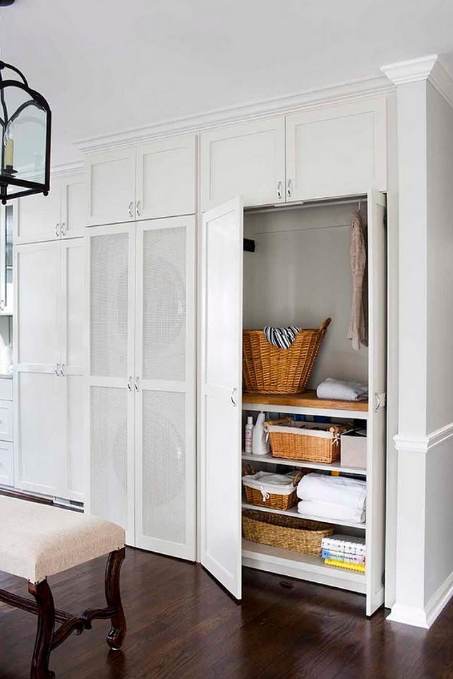 Laundry Room. Closet Laundry Room. Closet Laundry Room Design. Closet Laundry Room located in mudroom. #ClosetLaundryRoom #LaundryRoom #Mudroom  Terracotta Design Build