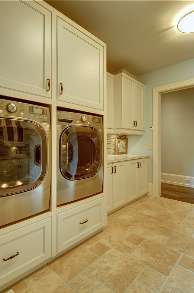 Stylish Family Home with Transitional Interiors - Home ... on Laundry Cabinets Ideas  id=22883