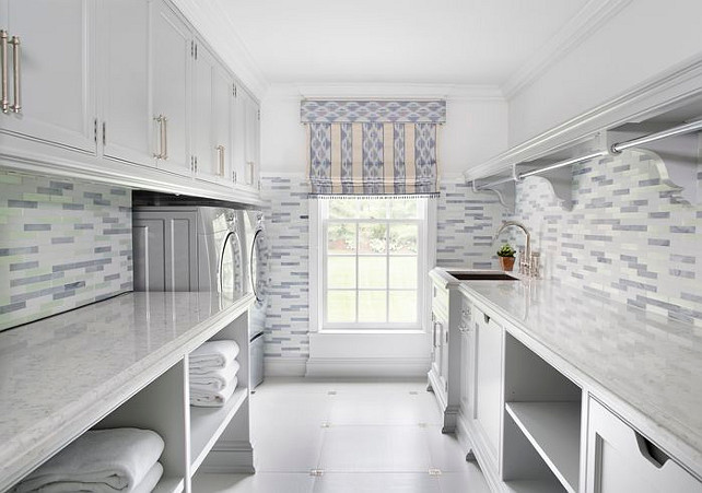 Laundry Room. Laundry Room Cabinet. Laundry Room Backsplash. Laundry Room Dry Rack. Laundry Room Countertop. #LaundryRoom Brooks & Falotico