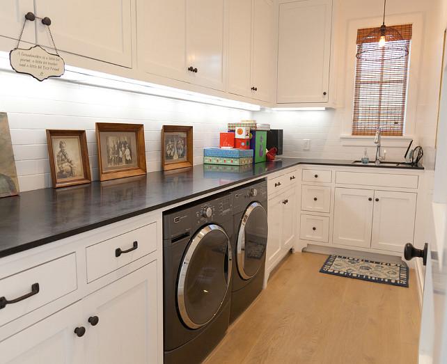 Laundry Room. Laundry Room Countertop. Laundry Room Cabinet. Laundry Room Paint Color. #LaundryRoom Graystone Custom Builders.