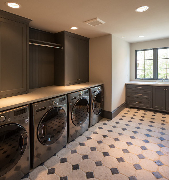 Stackable Washer Dryer Laundry Room Layout