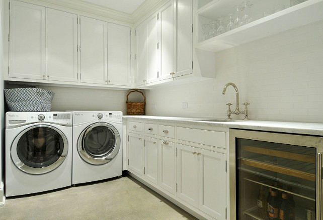 Laundry Room. Laundry room with White Cabinets. Laundry Room cabinet Layout. Laundry Room Countertop. Laundry Room Flooring. # LaundryRoom