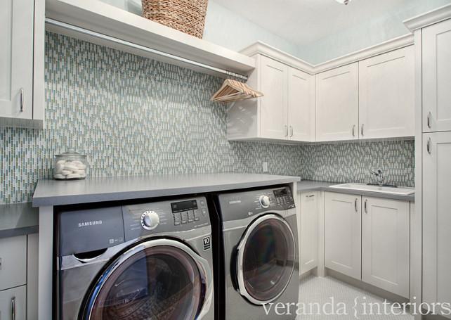 Laundry Room. New Laundry room ideas #LaundryRoom #LaundryRoomIdeas Veranda Estate Homes & Interiors