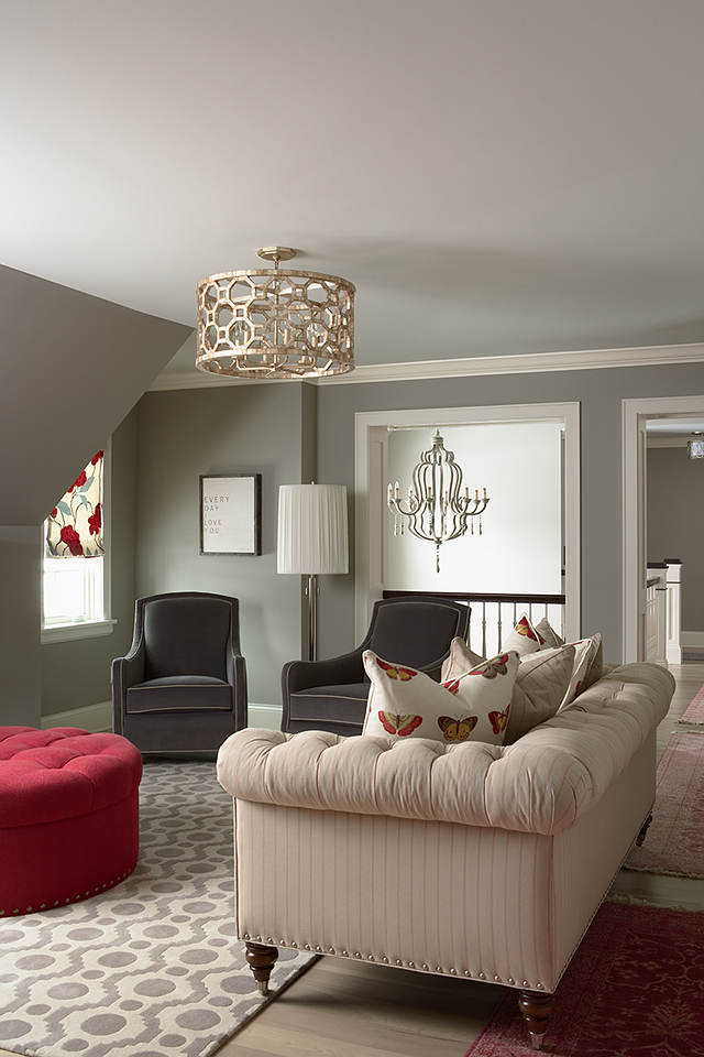 this room is pure style the walls are benjamin moore northern cliffs