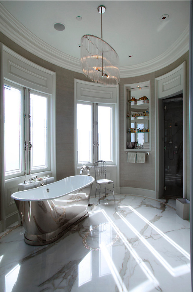 Marble Bathroom Ideas. Marble is perfect for classic bathrooms! #Marble #Bathroom