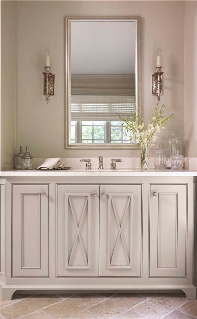 Bathroom Cabinets. Beautiful gray bathroom cabinets. #Bathroom #Gray #Cabinets