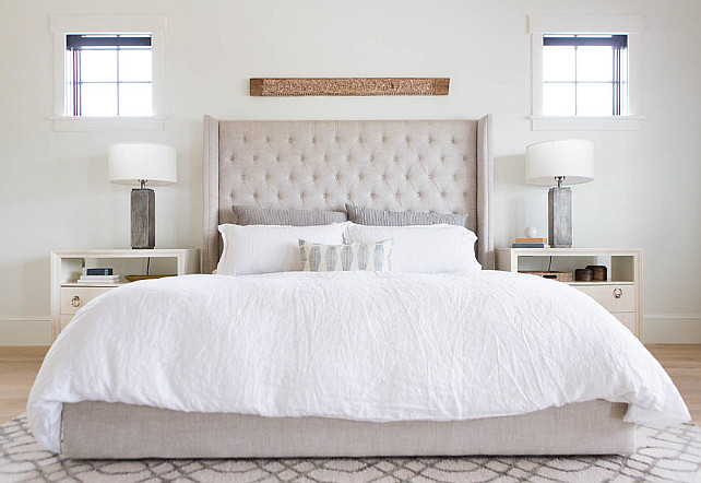 Linen Bed. Linen Bed Ideas. Natural linen bed. #LinenBed #Bed #NaturalLinen Ashley Winn Design.