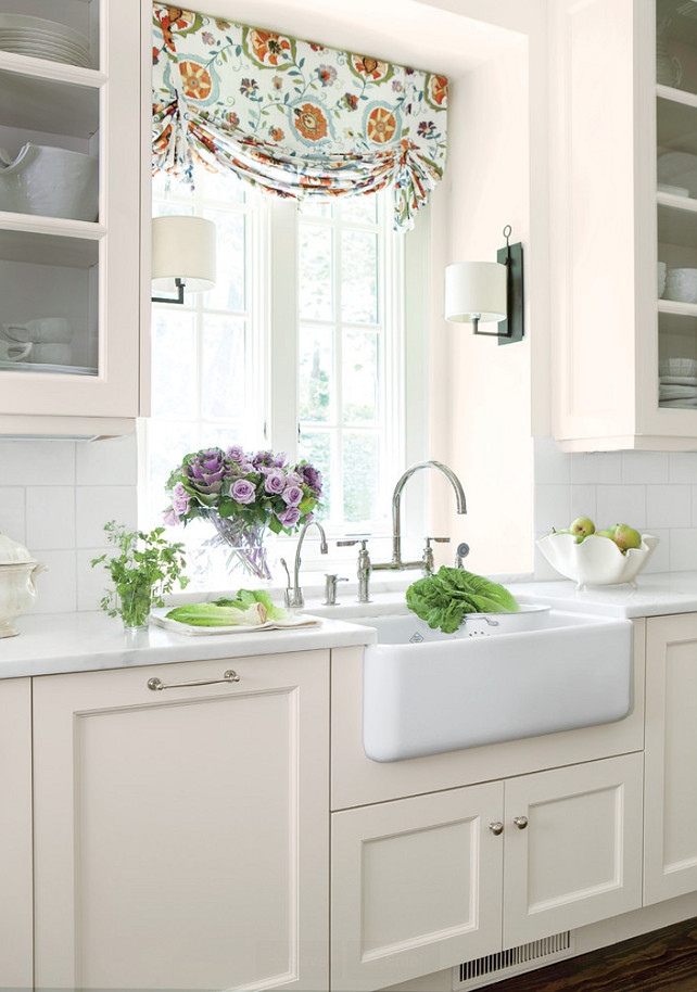 Linen White Benjamin Moore Kitchen  Southern Living