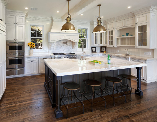 East coast style shingle home for sale home bunch for White kitchen cabinets with black island