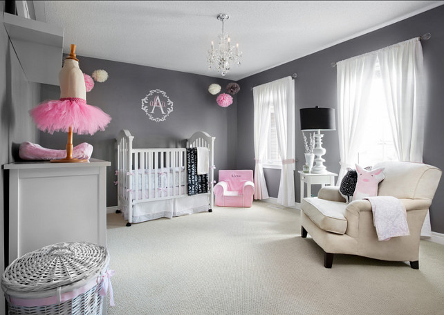 Nursery Ideas. Gray Nursery Design Ideas. #Nursery #GrayNursery #GreyNursery
