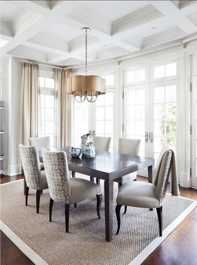 Dining Room. Dining Room Design Ideas. Dining room with neutral decor ...