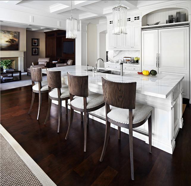 Kitchen Design. Classic White Kitchen Design. #Kitchen #WhiteKitchen #ClassicWhiteKitchen