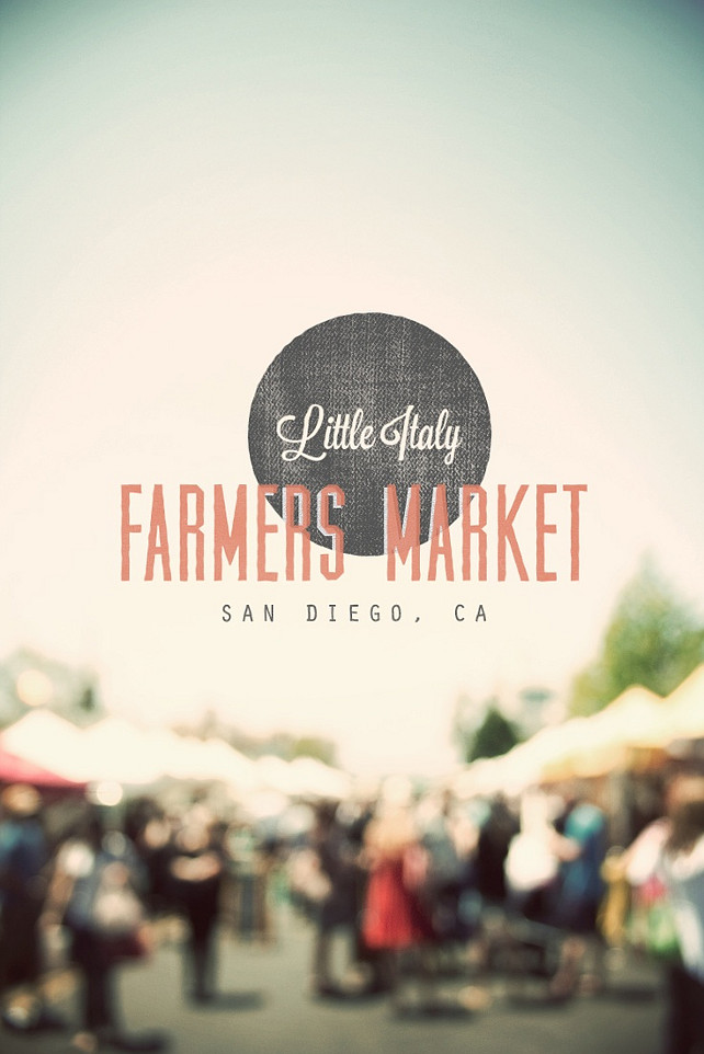 Little Italy, Farmers Market, San Diego, California. Via Little Italy Locals. #SanDiego #California #FarmersMarket