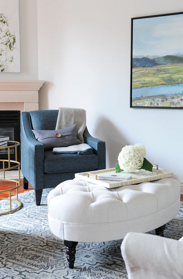 Living Room Blue and White Color Palette. #ColorPalette #LivingRoomColorPalette Oliver and Simon Design.