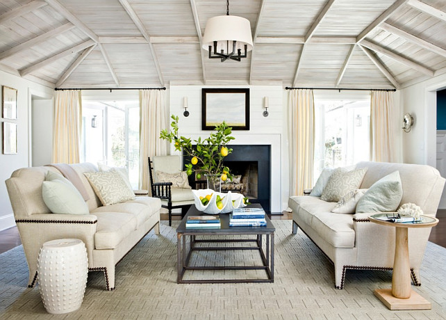 Living Room Ceiling. Living Room Wood Ceiling. Living Room Plank Ceiling. Living Room Driftwood Ceiling. Living Room Reclaimed Wood Ceiling. #LivingRoom #Ceiling   Andrew Howard Interior Design.