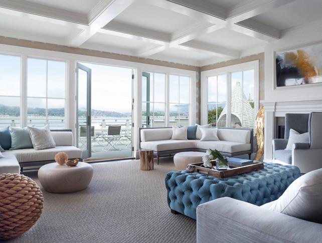 Living Room. Coastal Living room Design. Coastal Interiors. Coastal Decor. Coastal Living Room. Green Couch Interior Design