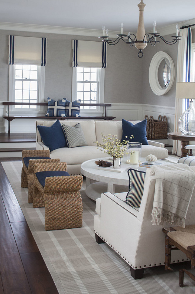 Living Room Color Scheme. Living Room Color Palette. Living Room Coastal Palette. Living Room Blue and White Motiff. #LivingRoom #ColorPalette #LivingRoomColorScheme