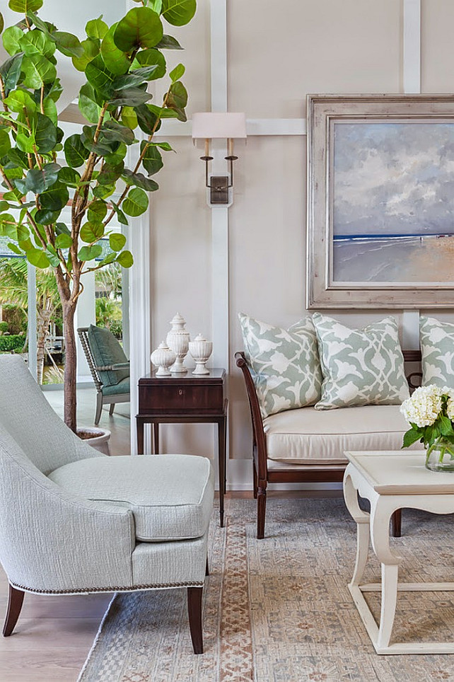 Living Room Decor Ideas. #LivingRoomDecor Ficarra Design Associates via House of Turquoise