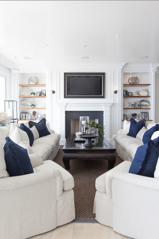Designs Of Living Room Furniture: Classic Beach House With Coastal Interiors