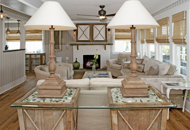 Renovated Beach House with Rustic Coastal Interiors - Home Bunch ...