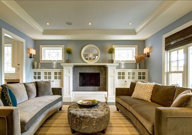 Stylish family home with transitional interiors home Beautiful living room colors