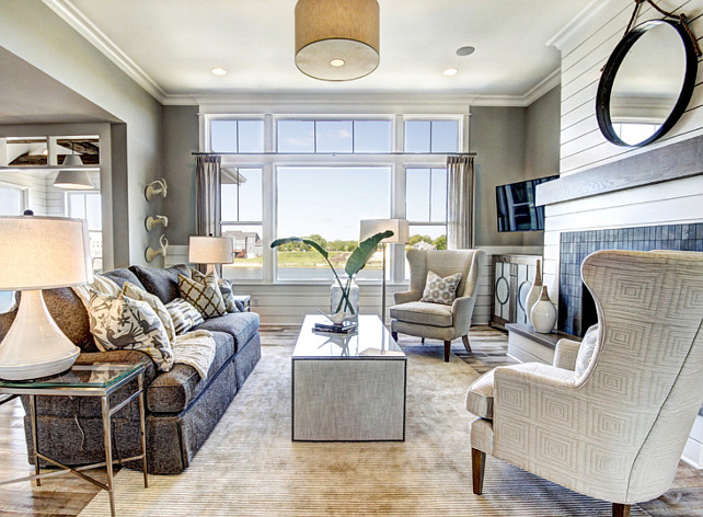 Living Room Furniture Layouts: Ranch-Style Home With Transitional Coastal Interiors